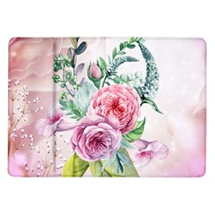 Flowers And Leaves In Soft Purple Colors Samsung Galaxy Tab 10 1  P7500 Flip Case