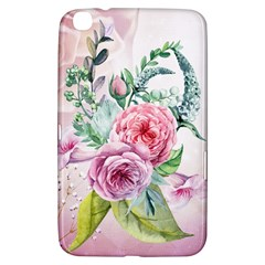 Flowers And Leaves In Soft Purple Colors Samsung Galaxy Tab 3 (8 ) T3100 Hardshell Case