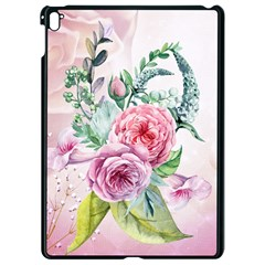 Flowers And Leaves In Soft Purple Colors Apple Ipad Pro 9 7   Black Seamless Case
