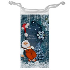 Funny Santa Claus With Snowman Jewelry Bag