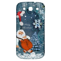 Funny Santa Claus With Snowman Samsung Galaxy S3 S Iii Classic Hardshell Back Case
