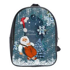 Funny Santa Claus With Snowman School Bag (xl)