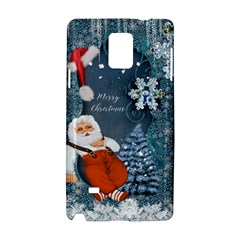 Funny Santa Claus With Snowman Samsung Galaxy Note 4 Hardshell Case