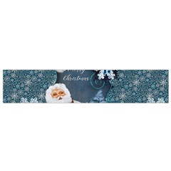Funny Santa Claus With Snowman Small Flano Scarf