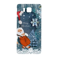 Funny Santa Claus With Snowman Samsung Galaxy Alpha Hardshell Back Case