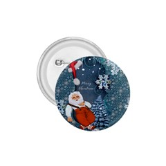Funny Santa Claus With Snowman 1 75  Buttons