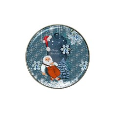 Funny Santa Claus With Snowman Hat Clip Ball Marker (4 Pack)