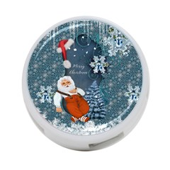Funny Santa Claus With Snowman 4 Port Usb Hub (one Side)