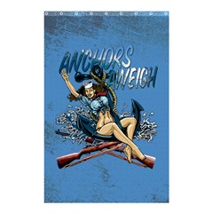 Navy Anchor s Aweigh Pinup Girl Shower Curtain 48  X 72  (small)