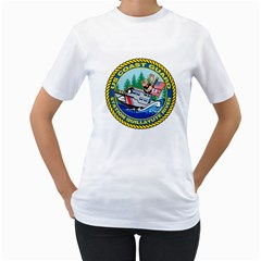 Coast Guard Station Quillayute River Women s T Shirt (white) (two Sided)