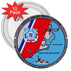 Coast Guard Sector North Carolina  3  Buttons (10 Pack)