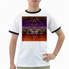 Cube Of Metatrone Diamond Ringer T Shirts