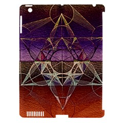 Cube Of Metatrone Diamond Apple Ipad 3/4 Hardshell Case (compatible With Smart Cover)