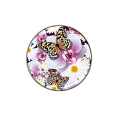 Butterflies With White And Purple Flowers  Hat Clip Ball Marker (10 Pack)
