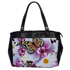 Butterflies With White And Purple Flowers  Office Handbags