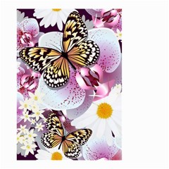 Butterflies With White And Purple Flowers  Small Garden Flag (two Sides)