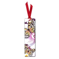 Butterflies With White And Purple Flowers  Small Book Marks