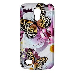 Butterflies With White And Purple Flowers  Galaxy S4 Mini