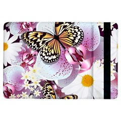 Butterflies With White And Purple Flowers  Ipad Air Flip