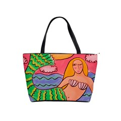 Sunset Mermaid Large Abstract Art Handbag Shoulder Handbags
