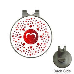 Monogram Heart Pattern Love Red Hat Clips With Golf Markers