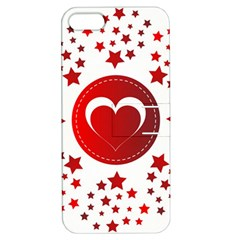 Monogram Heart Pattern Love Red Apple Iphone 5 Hardshell Case With Stand