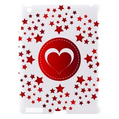Monogram Heart Pattern Love Red Apple Ipad 3/4 Hardshell Case (compatible With Smart Cover)