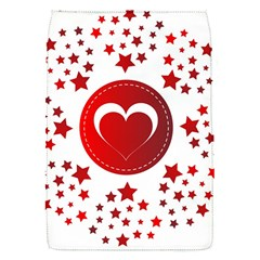 Monogram Heart Pattern Love Red Flap Covers (s)