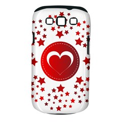 Monogram Heart Pattern Love Red Samsung Galaxy S Iii Classic Hardshell Case (pc+silicone)