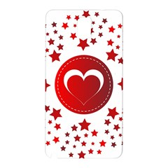 Monogram Heart Pattern Love Red Samsung Galaxy Note 3 N9005 Hardshell Back Case