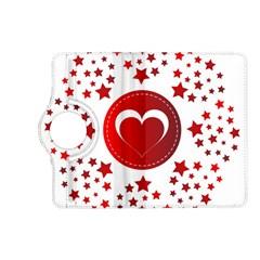 Monogram Heart Pattern Love Red Kindle Fire Hd (2013) Flip 360 Case