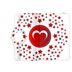 Monogram Heart Pattern Love Red Kindle Fire Hdx 8 9  Flip 360 Case