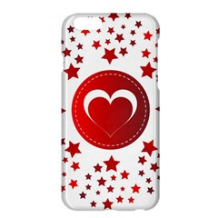 Monogram Heart Pattern Love Red Apple Iphone 6 Plus/6s Plus Hardshell Case