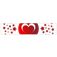Monogram Heart Pattern Love Red Small Flano Scarf