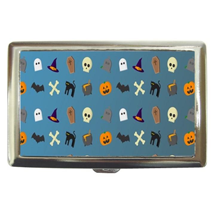 Halloween Cats Pumpkin Pattern Bat Cigarette Money Cases