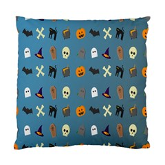 Halloween Cats Pumpkin Pattern Bat Standard Cushion Case (one Side)