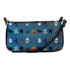 Halloween Cats Pumpkin Pattern Bat Shoulder Clutch Bags