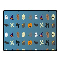 Halloween Cats Pumpkin Pattern Bat Fleece Blanket (small)