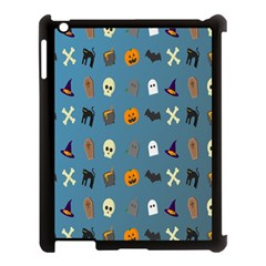 Halloween Cats Pumpkin Pattern Bat Apple Ipad 3/4 Case (black)