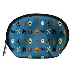 Halloween Cats Pumpkin Pattern Bat Accessory Pouches (medium)