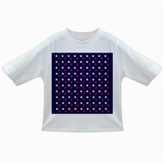 Patriotic Red White Blue Stars Blue Background Infant/toddler T Shirts