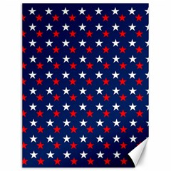 Patriotic Red White Blue Stars Blue Background Canvas 12  X 16