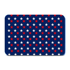 Patriotic Red White Blue Stars Blue Background Plate Mats