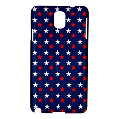 Patriotic Red White Blue Stars Blue Background Samsung Galaxy Note 3 N9005 Hardshell Case