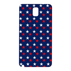 Patriotic Red White Blue Stars Blue Background Samsung Galaxy Note 3 N9005 Hardshell Back Case