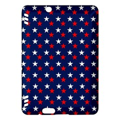 Patriotic Red White Blue Stars Blue Background Kindle Fire Hdx Hardshell Case