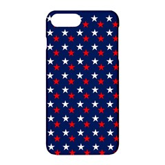 Patriotic Red White Blue Stars Blue Background Apple Iphone 8 Plus Hardshell Case