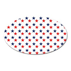 Patriotic Red White Blue Stars Usa Oval Magnet
