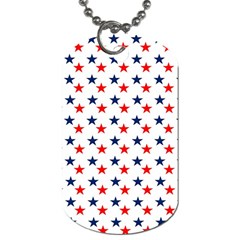 Patriotic Red White Blue Stars Usa Dog Tag (one Side)