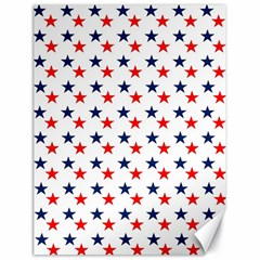 Patriotic Red White Blue Stars Usa Canvas 18  X 24